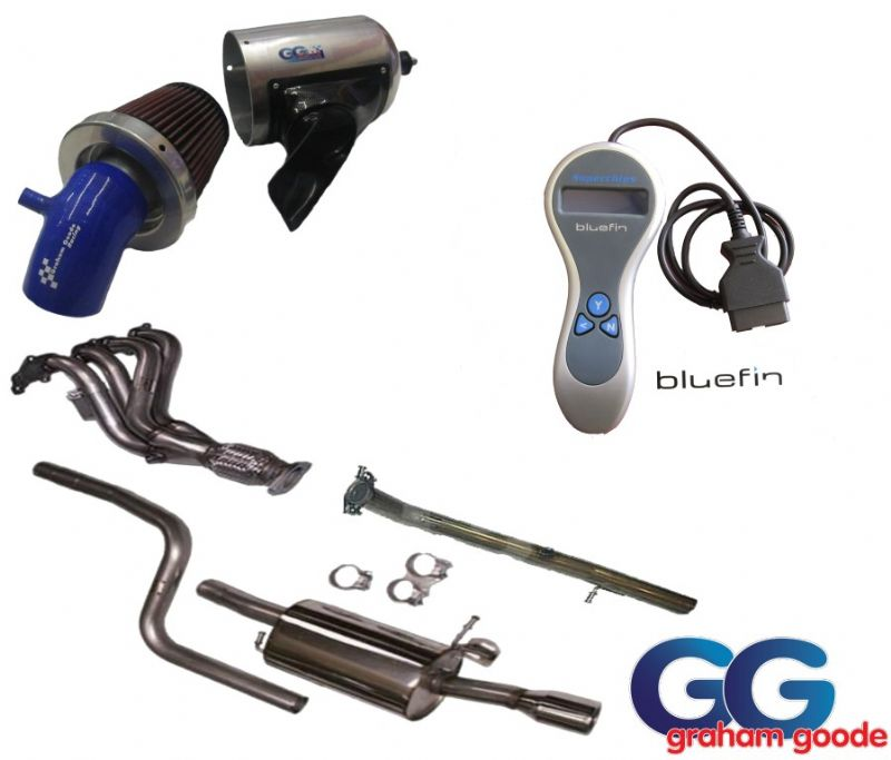 GGR Fiesta ST ST150 Power Upgrade Package Milltek Exhaust System GGR CAIS Induction Kit Bluefin Chip
